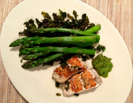 Crispy Kale & Fish